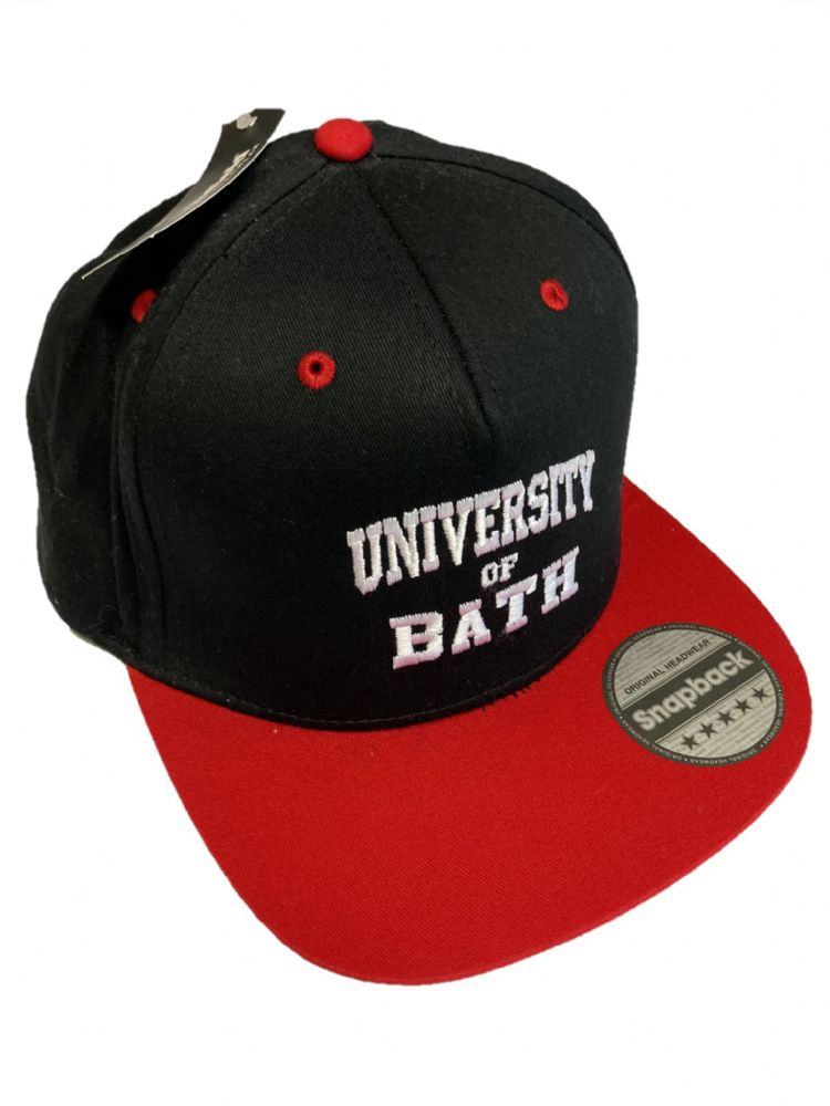 University of Bath Snapback Red & Black
